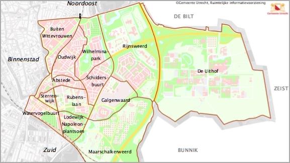 Verspreidingsgebied Oostkrant