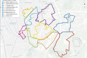 Wandelroutes door Groen Oost