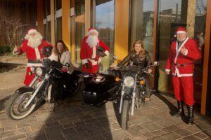 Kerstman bij Maxima Centrum