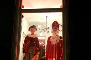 Sinterklaas in de etalage