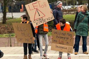 Protest bij Uithoflijn